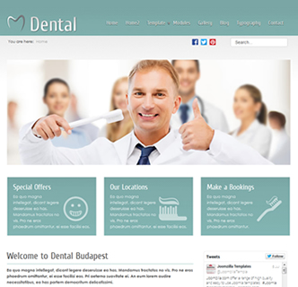 joomla dental medical template