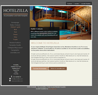 Joomla hotel accomodation template
