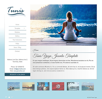Joomla yoga simple beautiful template