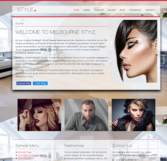 joomla interior design salon template