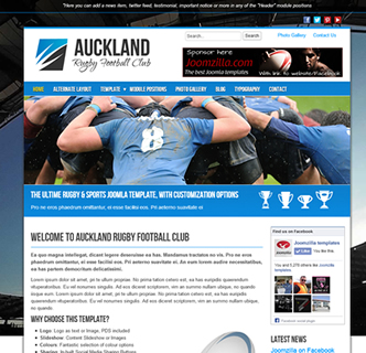 joomla rugby football club sports athletics template