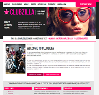 joomla festival nightclub disco template