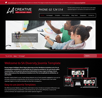 joomla web design template, web development joomla template