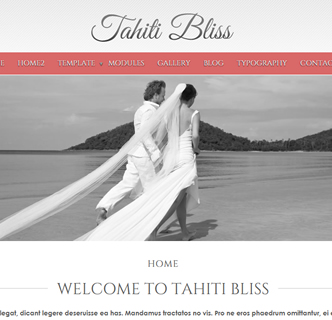 Joomla wedding template, joomla bridal template, photography joomla template