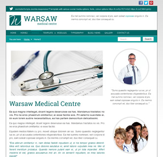 Joomla Medical GP Doctors responsive Template