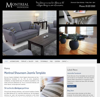 joomla full screen background template furniture store