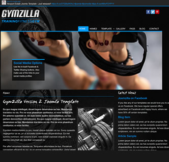 Joomla Sports Club Template Boxing