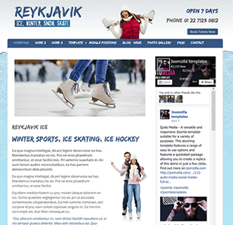 Joomla ice skating template, winter template, joomla ice hockey template