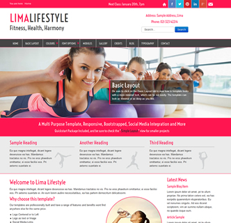 joomla fitness template, yoga template, health template, health and fitness joomla