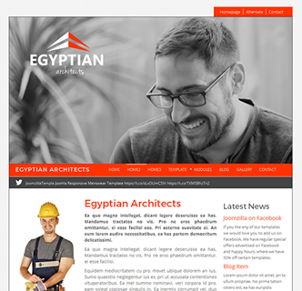 joomla architects/builders/construction website template