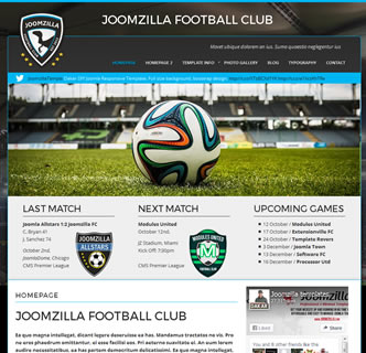 Joomla Soccer Template, Football Club Joomla Template, Joomla Football