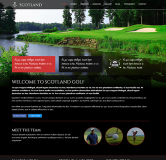 Joomla golf country club template restaurant hotel