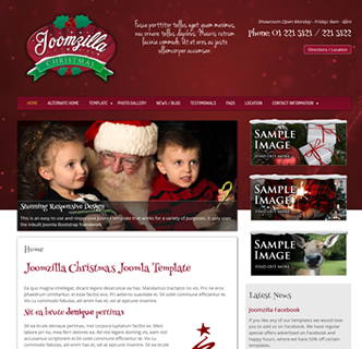 Joomla Christmas Template Santa Winter