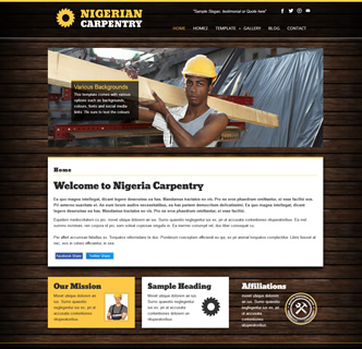 joomla carpentry template, joomla joinery template, joomla woodwork template, responsive joomla template