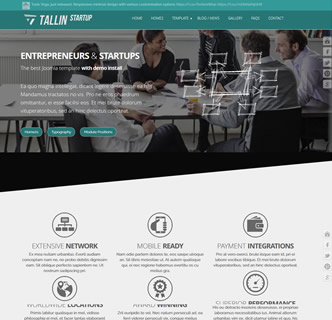 joomla responsive bootstrap business startup ICO corporate templatetheme
